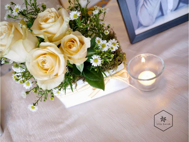 wedding floral decoration at Harbour Grand Kowloon by Lily Sarah