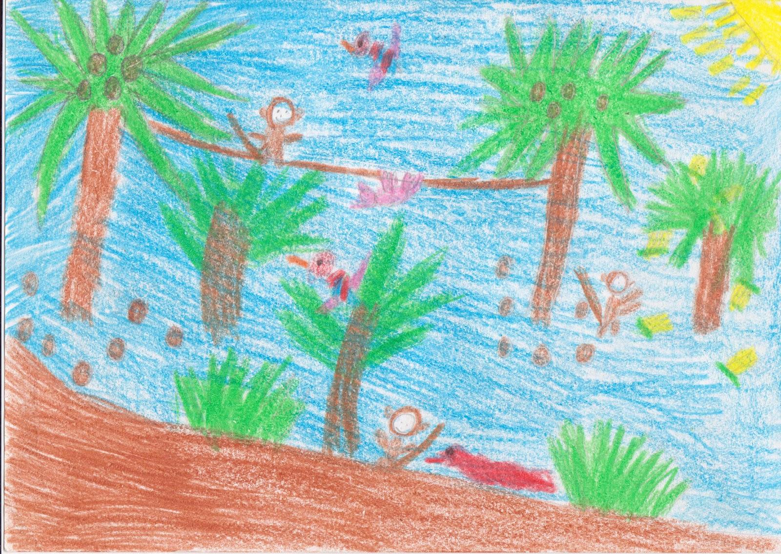 Tropical Rainforest Drawings | Car Interior Design