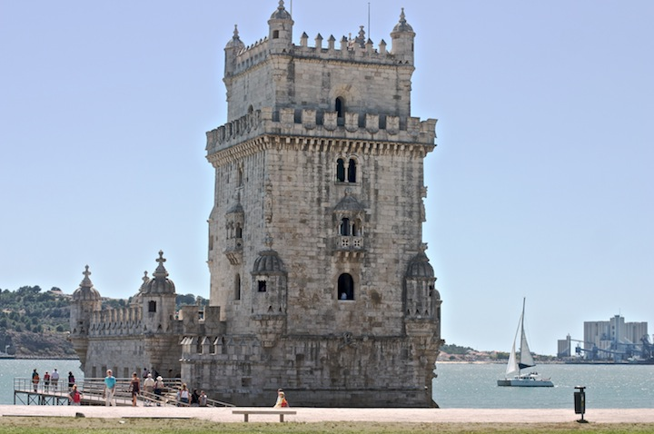 lisbon belem tower during summer day