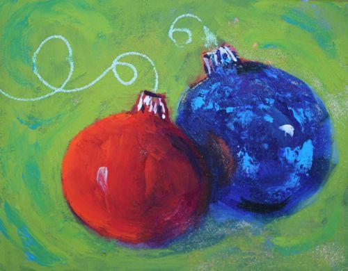 Amy Whitehouse Paintings: Christmas Celebration Acrylic Painting ...