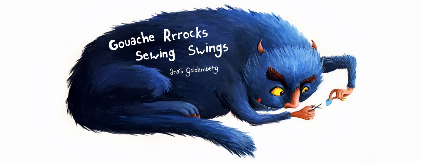 Gouache Rocks, Sewing Swings