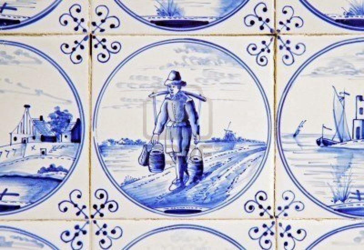 Blauwe Keuken Delft : Dutch Blue Delft Tile