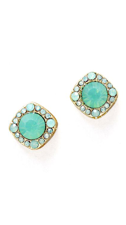 Crystal Maddie Earrings in Opalescent Mint