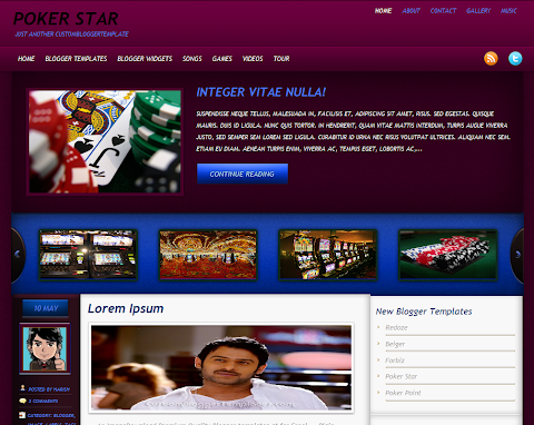 Poker Star Blogger Theme