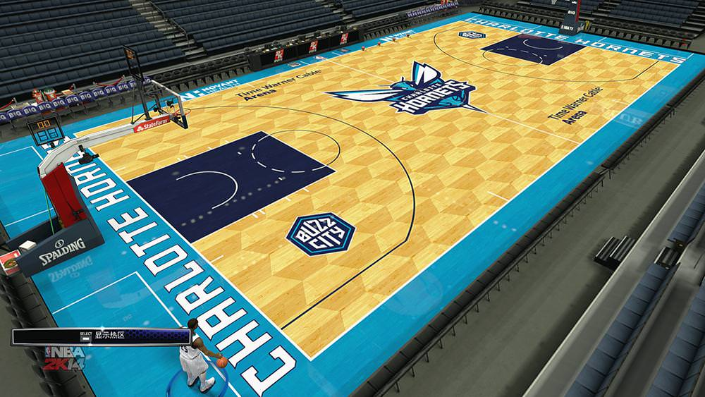 NBA 2K14 Charlotte Hornets 2014-15 Court Patch