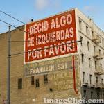 GRAFITI PARA POLITICOS DE IZQUIERDA