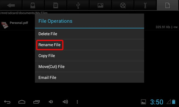 Hide folder android