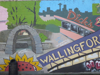 Close-up of the Wallingford Mural