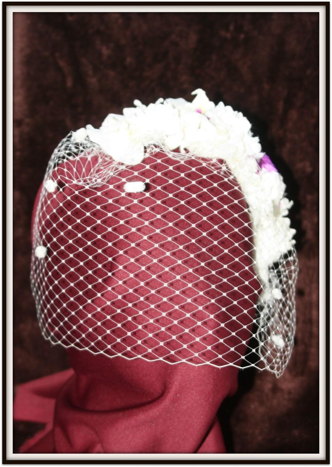 Sandunga Complementos: TOCADO: Flores y Velo para una novia
