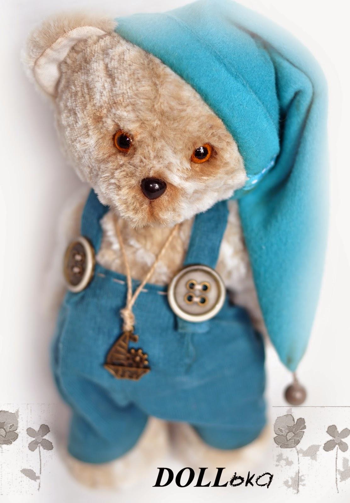 мишка текстильная игрушка ручной работы