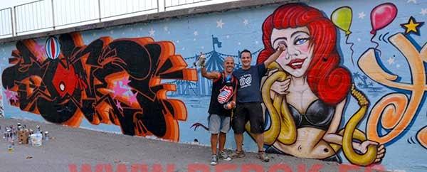 Derz , Posiek y sus graffitis