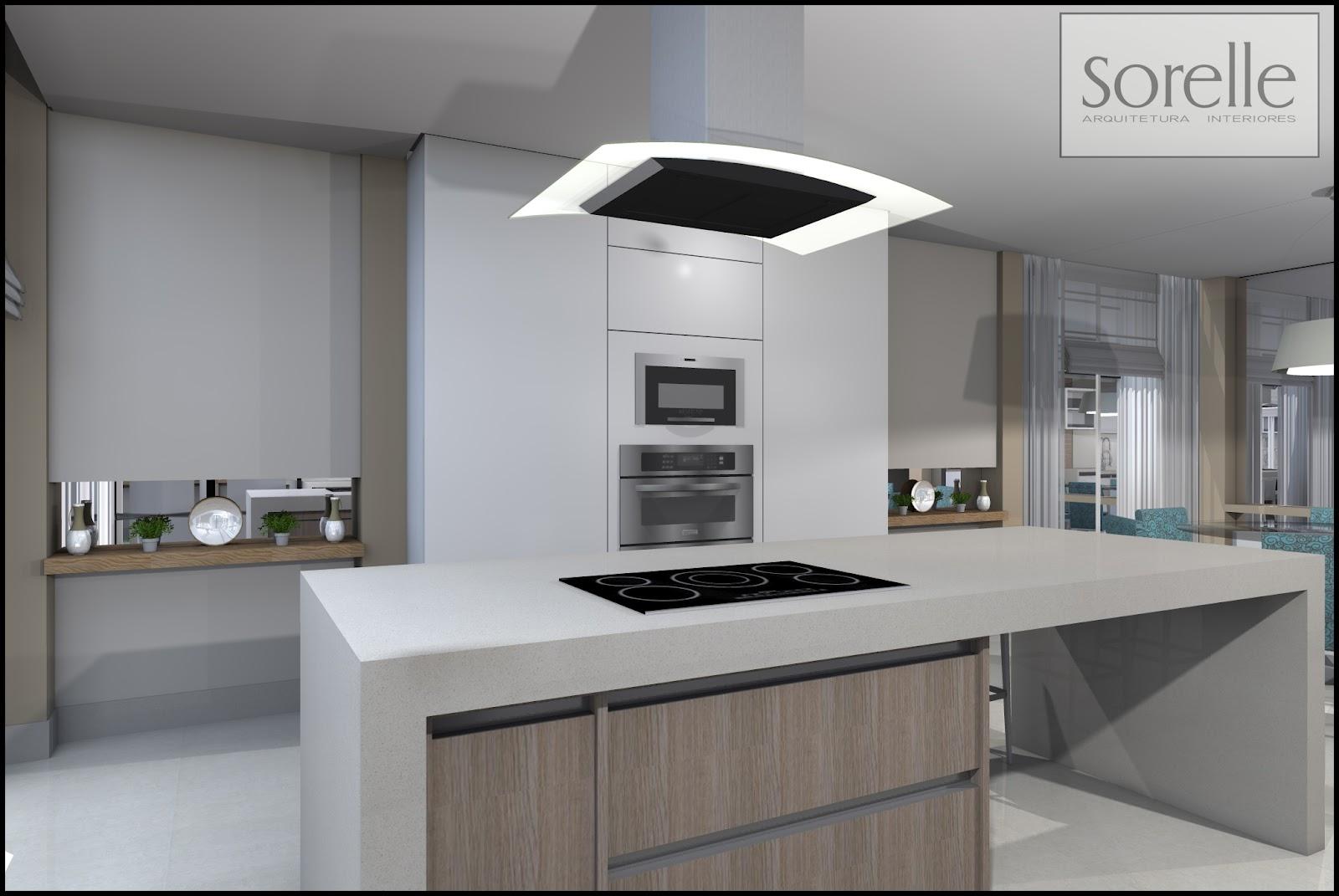 Projeto Sorelle Arquitetura Cozinha e Sala de Jantar Integrada. #635B50 1600 1071