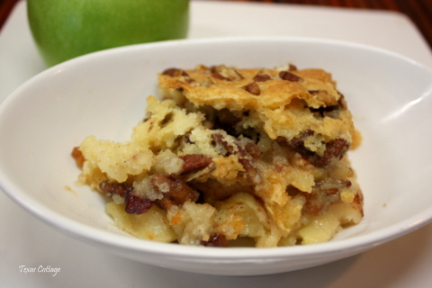 ... Days of Autumn Recipes {Day 6}: Apple Pecan Cobbler at Texas Cottage