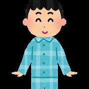 パジャマを着た男の子のイラスト