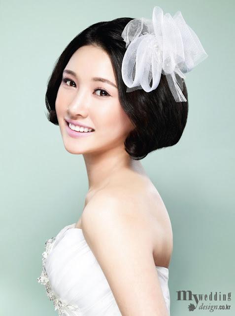 tóc ngắn cô dâu 2012
