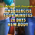 One Exercise, Four Minutes, 28 Days, Absolutely New Body