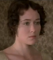 Elizabeth from the A&E version of Pride and Prejudice by Jane Austen