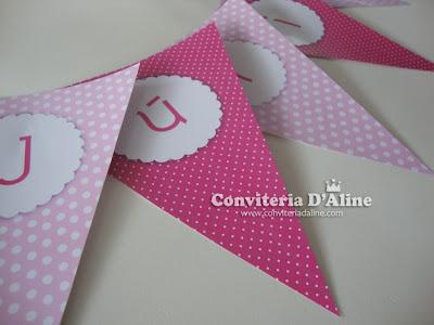 bandeirolas decoração festa ursinha