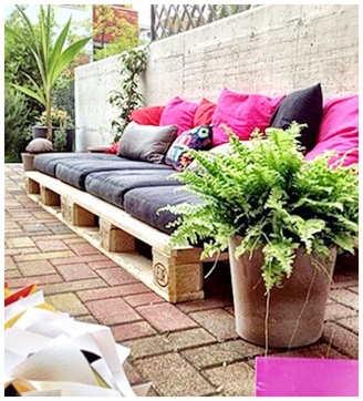 terrazas decoradas con palets