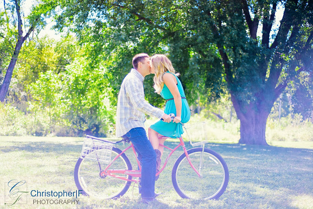 Starved Rock Bike Engagement Photo