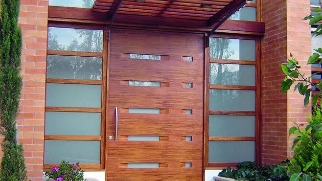 Estilos de puertas de madera pictures to pin on pinterest for Puertas principales modernas de madera