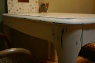 Újjáalakított kisasztal