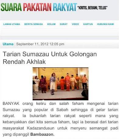 Isu Sumazau: PR nafi kendali blog 'Suara Pakatan Rakyat'