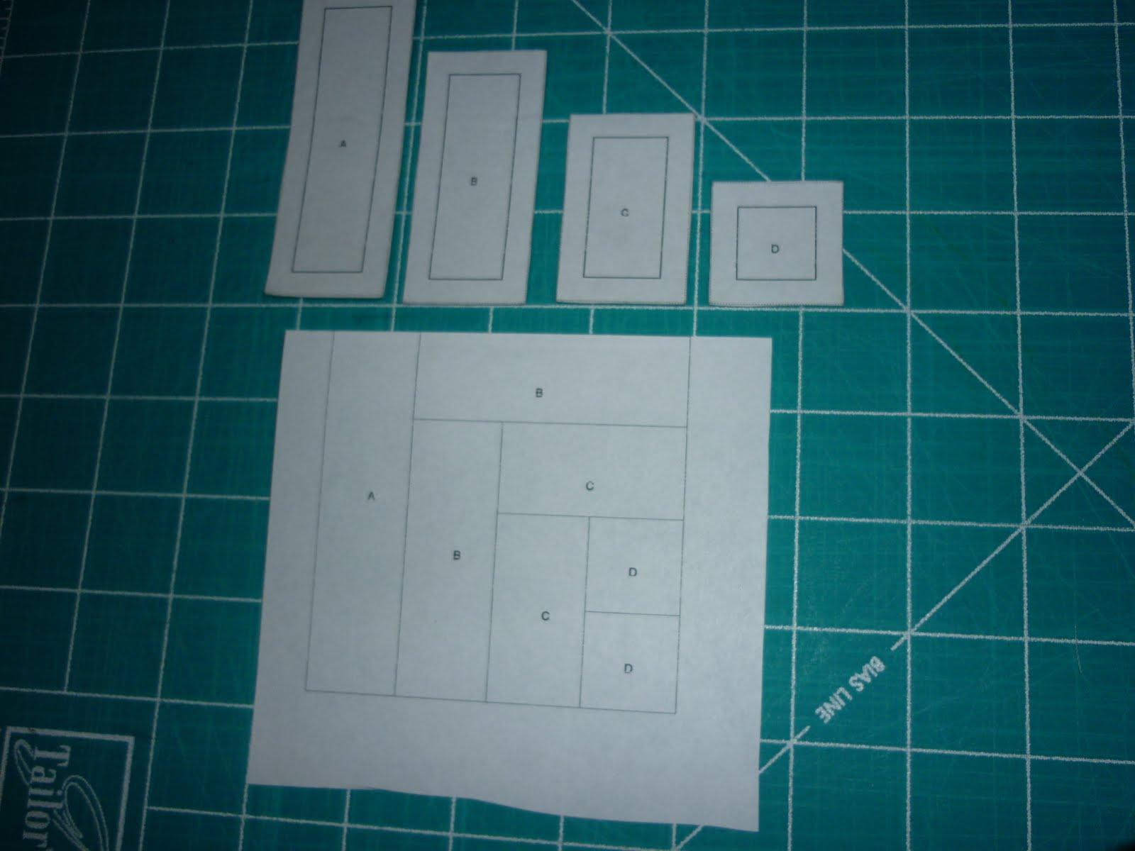 Casita del patchwork tutorial log cabin - La casita del patchwork ...