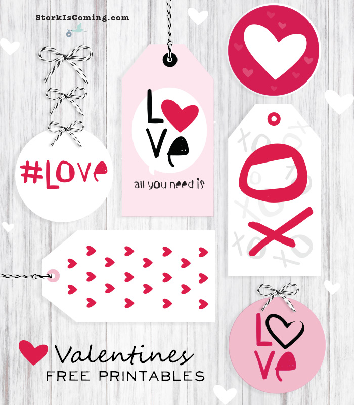 Valentine Day Gift Tags