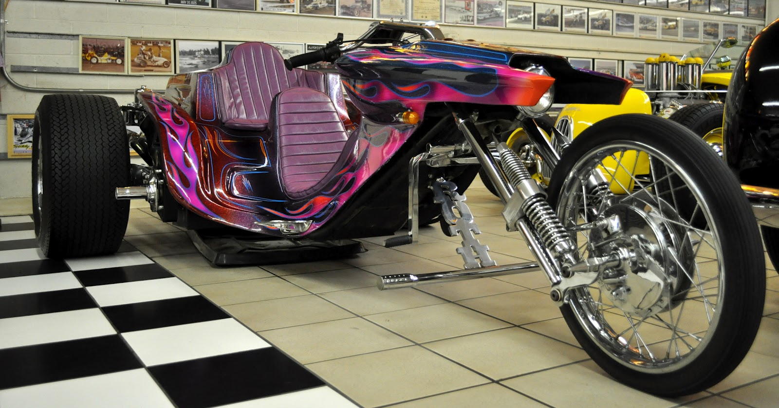 "Just A Car Guy: Ed ""Big Daddy"" Roth tribute trike and tribute car are in an unlikely location ..."