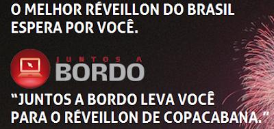 """Concurso Cultural """"Juntos a Bordo te leva para o Réveillon de Copacabana"""""""
