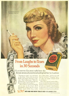 Claudette Colbert Smoking