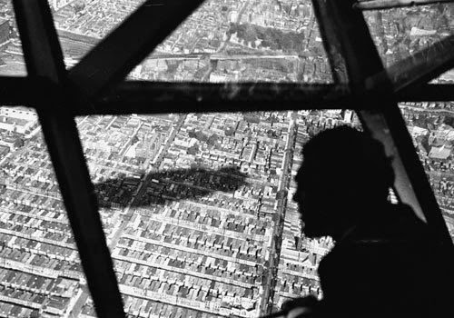 Max Schmeling observes the shadow of the HINDENBURG