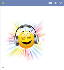 Emoticon listening to music