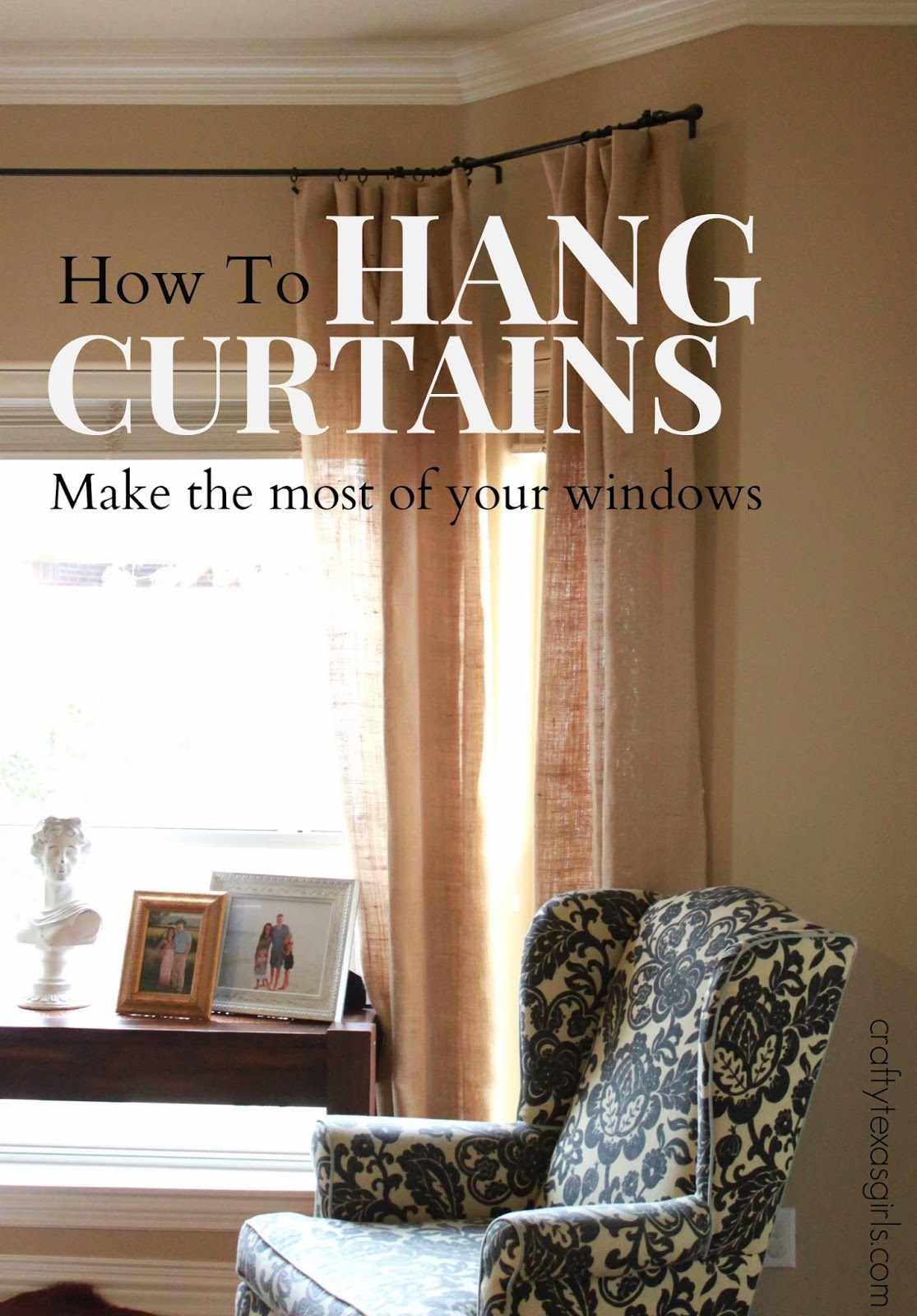 the thing about hanging curtains is you have to hang them high and