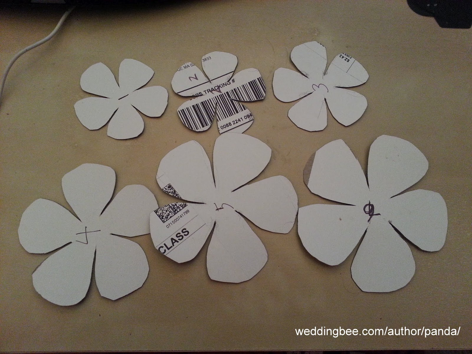 Displaying 16> Images For - 5 Petal Paper Rose Template...