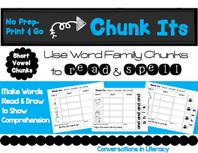 Chunk Its Short Vowels Word Family Activities