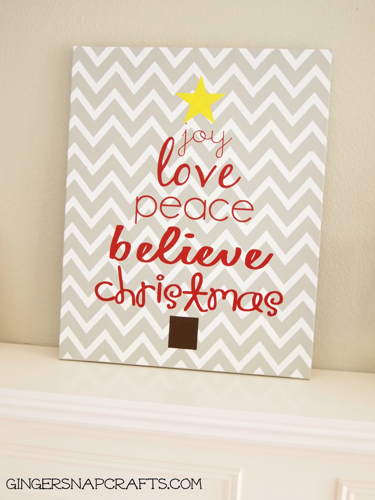 Ginger snap crafts easy knock off christmas art tutorial for Christmas canvas painting ideas