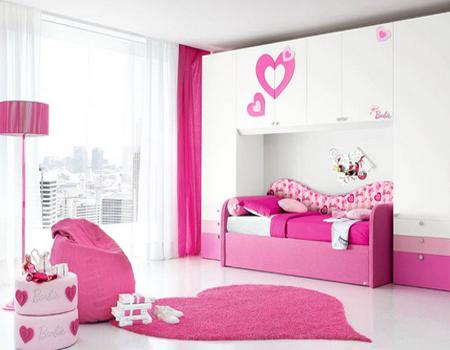 Model desain kamar tidur anak perempuan
