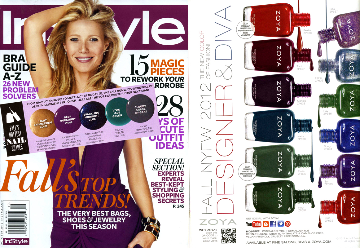 InStyle Magazine Features Zoya Nail Polish in Frida! | Zoya Nail ...