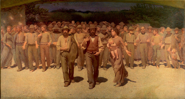 The Fourth Estate - Giuseppe Pellizza da Volpedo