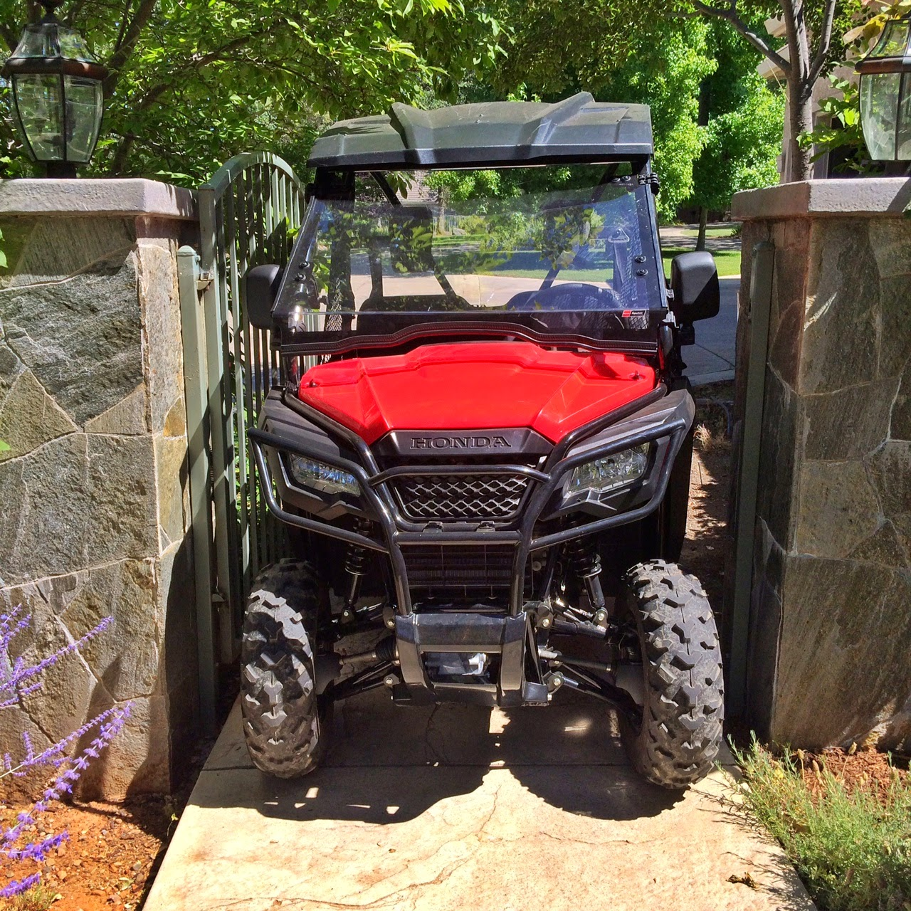 50 inch wide honda pioneer 500 is able to get into places other utv can t