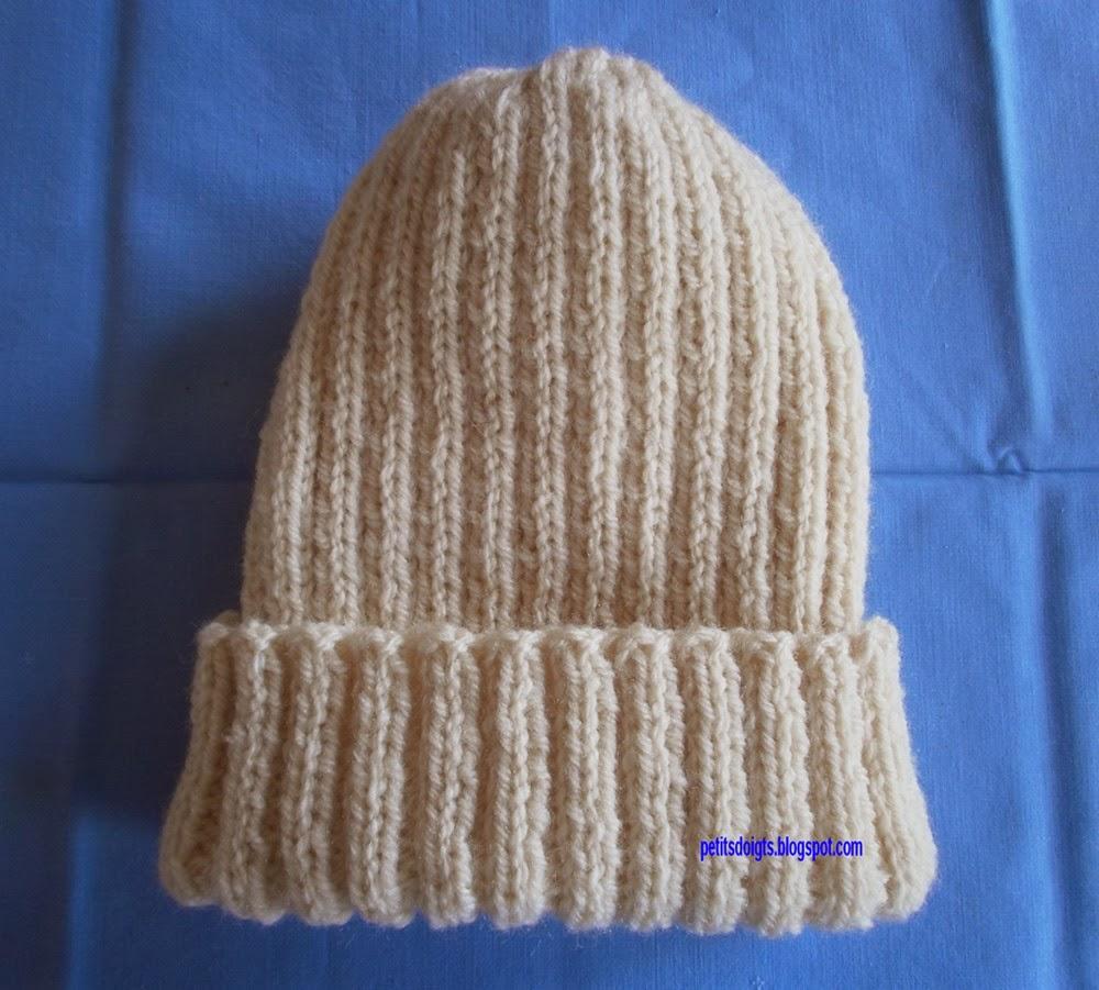 modele bonnet tricot cote 2-2