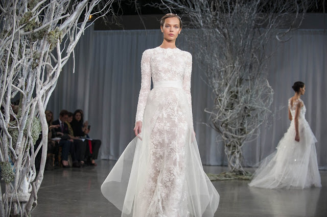 Wedding Dress with Long Sleeves monique lhuillier