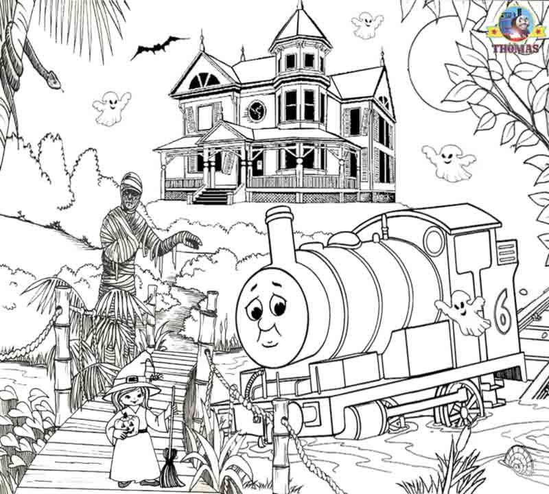 October Halloween Ideas Kids Activity Sheets In The Swamp Percy And Thomas Train Coloring Pages