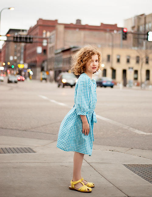 Brooklyn Pattern Co., Franklin Dress {sewn by: Kid Approved}
