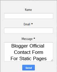 Google Official Contact Form for Static Pages in Blogger