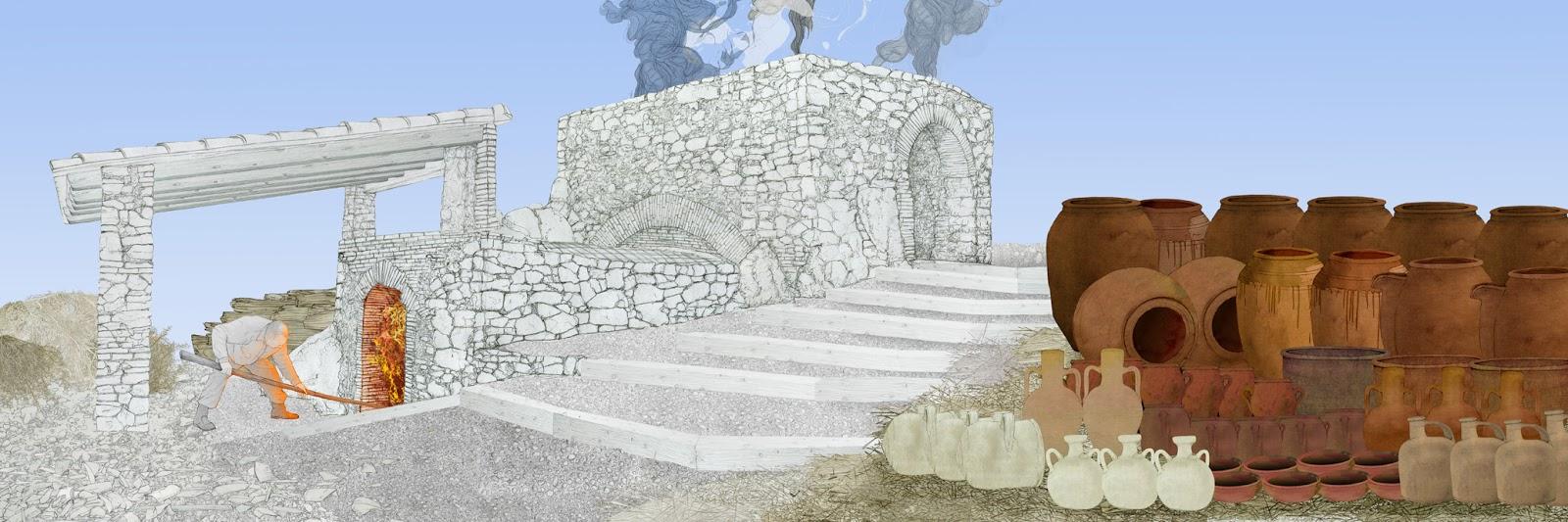 Castello de Rugat, Ceramica de barro, horno