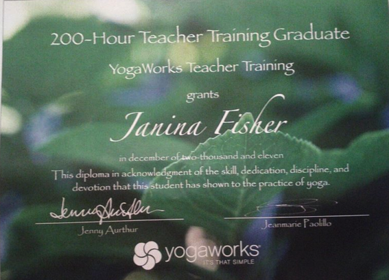 Certification 200 Hour Instructor