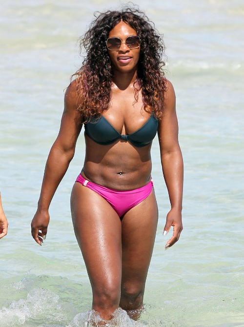 Athletic Serena Williams, who enjoyed some time in a bikini on the beach ...
